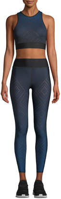 Ultracor Ultra High Argyle-Pixelate Ombre Cropped Leggings