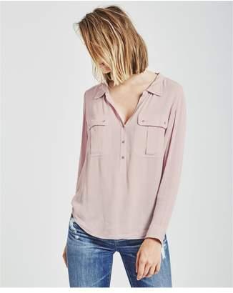 AG Jeans The Nevada Henley - Rose Quartz