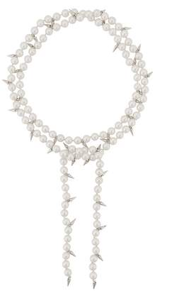 Fallon double layered pearl necklace