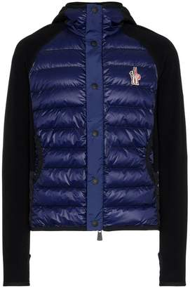 Moncler quilted feather down nylon hooded jacket
