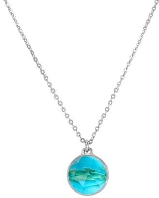 Melinda Maria Hunter Faceted Blue Tourmaline Pendant Necklace