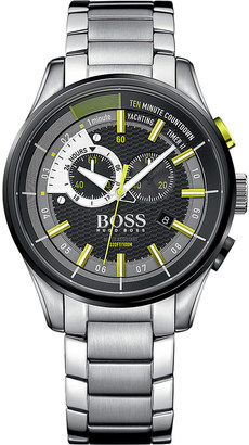HUGO BOSS 1513336 yachting timer II stainless steel watch $475 thestylecure.com