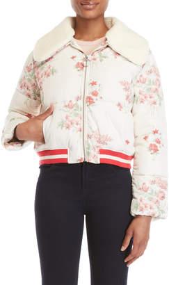 Tularosa Floral Sherpa Collar Puffer Jacket
