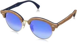 Ray-Ban Wood Unisex Non-Polarized Iridium Round Sunglasses
