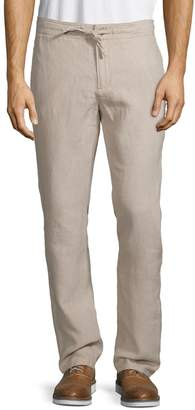 Black Brown 1826 Classic Drawstring Linen Pants