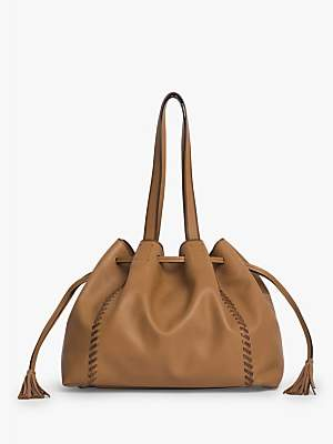 Gerard Darel Simple Point Bag, Beige Leather