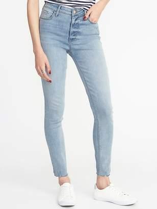 Old Navy High-Rise Secret-Slim Raw-Edge Rockstar Jeans