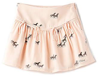 Chloé (クロエ) - Kids Horse Print Fringe Skirt