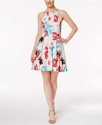 GUESS Floral-Print Fit & Flare Dress $128 thestylecure.com