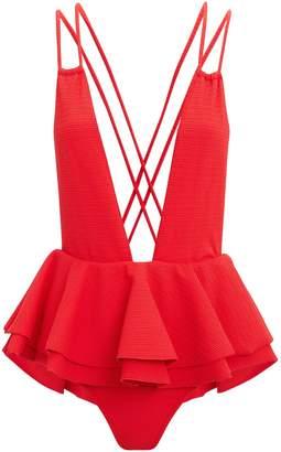 Montce Swim Pampas Ruffle Skirt One Piece Swimsuit