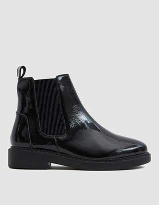 Intentionally Blank CC Patent Chelsea Boot in Black