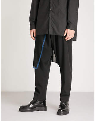 Isabel Benenato Detachable-panel tapered wool trousers