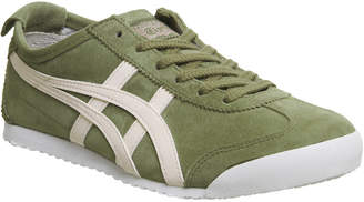 84eb293a73c7 Onitsuka Tiger by Asics Mexico 66 Trainers Khaki Pink Suede