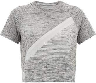 LNDR Comet Cropped Seamless Jersey T Shirt - Womens - Grey