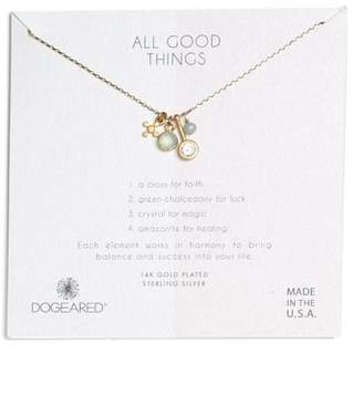 Dogeared (ドギャード) - Dogeared All Good Things Green Chalcedony Pendant Necklace
