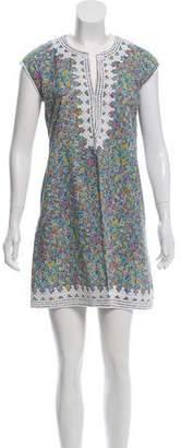 Calypso Sleeveless Floral Print Dress