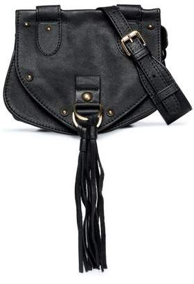 See by Chloe Collins Tasseled Brushed-Leather Shoulder Bag