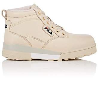 Fila Women's BNY Sole Series: Grunge Leather Ankle Boots - Beige, Tan