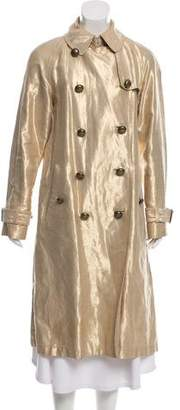 Marc Jacobs Metallic Linen Trench Coat
