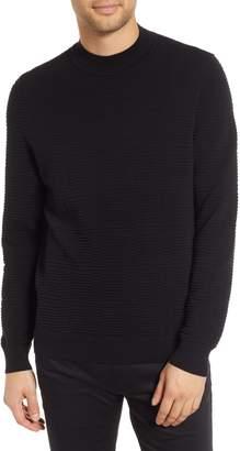HUGO Svavor Textured Mock Neck Sweater