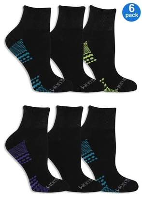 Fruit of the Loom Women's Fit For Me Everyday Active Ankle Socks 6 Pair