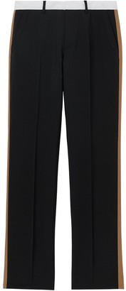 Burberry Tri-tone Mohair Wool Tailored Trousers