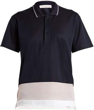 Golden Goose Dalila contrast-panel piqué polo shirt