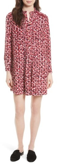 Women's Kate Spade New York Print Brushed Silk Swing Dress