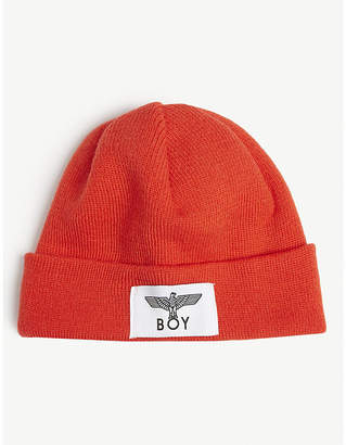 ee720a6a08a0c Boy London Logo knitted fisherman beanie