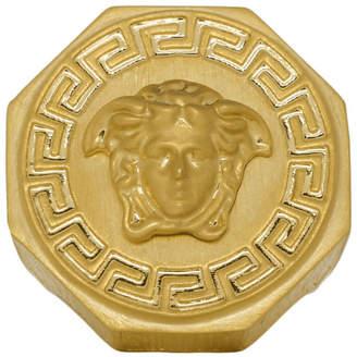 Versace Gold Octagon Greek Medusa Ring