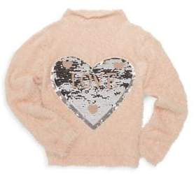 Imoga Little Girl's & Girl's Dallas Shaggy Sequin Sweater
