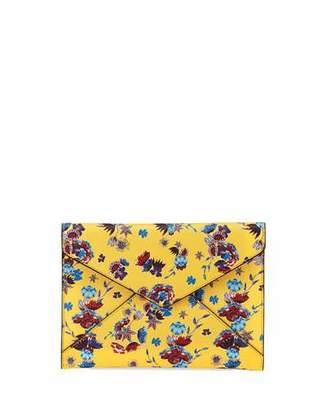 Rebecca Minkoff Leo Saffiano Leather Floral Envelope Clutch Bag