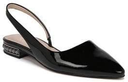 Franco Sarto Savanne Patent Leather Slingback Flats