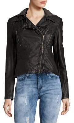 Free People Faux Leather Moto Jacket