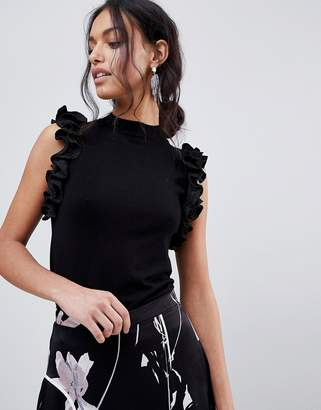 Coast Frill Knitted Shell Top