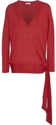 Brunello Cucinelli Tie-detailed Cashmere And Silk-blend Sweater