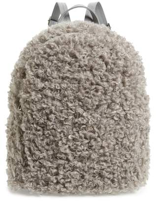 BP Curly Faux Shearling Backpack