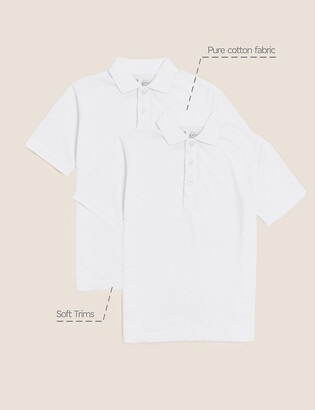 Marks and Spencer 2 Pack Unisex Skin Kind Polo Shirts