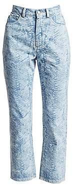 Rachel Comey Women's Norm Zebra High-Rise Cropped Jeans
