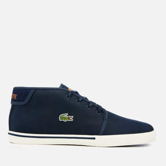 dd7ae58469e0b Lacoste Men s Ampthill 119 1 Leather Chukka Trainers - Navy Light Brown