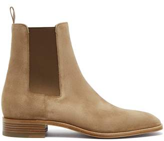 Christian Louboutin Samson suede chelsea boots