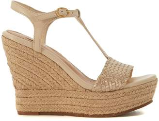 UGG Fitchie Golden Leather Wedge Sandal
