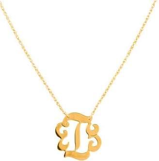 Jennifer Zeuner Jewelry Emily Small Swirly Initial 'I' Pendant Necklace