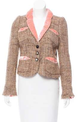 Marc Jacobs Wool Velvet-Trimmed Blazer