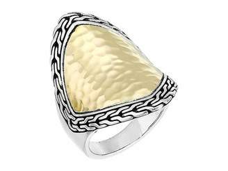 John Hardy Classic Chain Hammered Heritage Marquise Ring