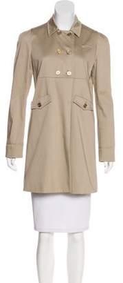 Miu Miu Open-Front Short Coat