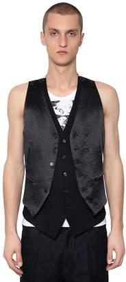 Ann Demeulemeester Double Satin & Wool Vest