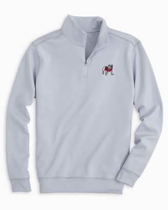 Southern Tide Gameday Performance 1/4 Zip Pullover - University of Georgia