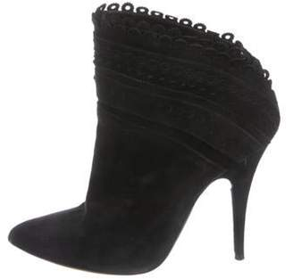 Tabitha Simmons Suede Ankle Boots Black Suede Ankle Boots