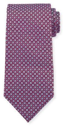Charvet Square & Circle Silk Tie $245 thestylecure.com